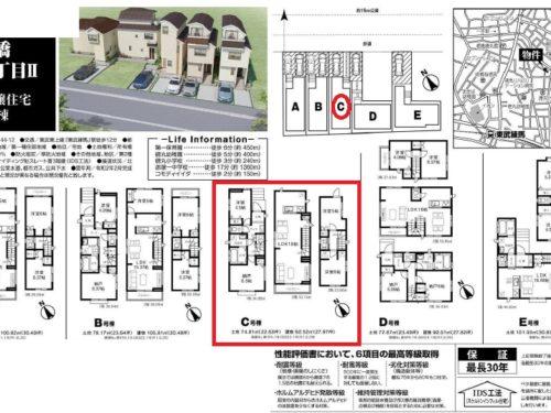 ハートフルタウン板橋区徳丸1丁目Ⅱ C号棟  仲介手数料無料新築戸建