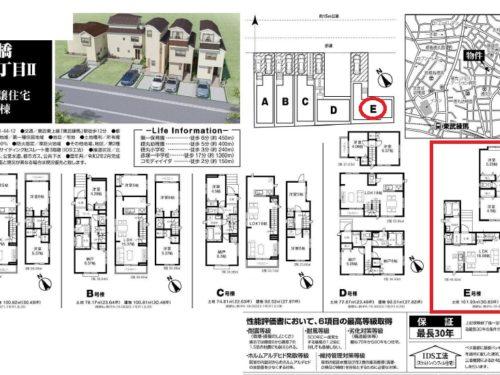 ハートフルタウン板橋区徳丸1丁目Ⅱ E号棟  仲介手数料無料新築戸建